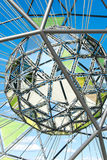Fragment of globe shaped metallic sculpture Royalty Free Stock Photography