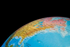 Fragment of  globe of world isolated Royalty Free Stock Image