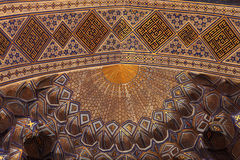 Fragment of golden ceiling in Guri Amir Royalty Free Stock Image
