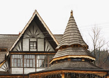 Fragment of gorol house in Szczyrk. Poland Royalty Free Stock Images