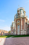 A fragment of the Grand Palace architecture. Museum-Reserve Tsaritsyno Royalty Free Stock Image