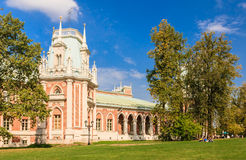 A fragment of the Grand Palace architecture. Museum-Reserve Tsaritsyno. Stock Image