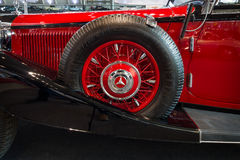 Fragment of grand touring car Mercedes-Benz 500K (W29) Cabriolet C, 1934. Stock Photography