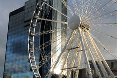 Fragment of grand Wheel Royalty Free Stock Photos