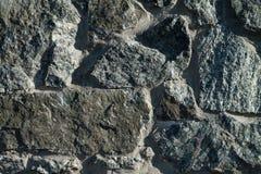 Fragment of granite wall Royalty Free Stock Photos