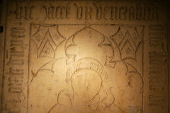 Fragment of grave tomb Stock Images