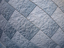 Fragment of gray decorative wall Stock Image