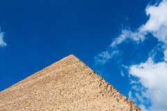 Fragment of the great pyramids Stock Photo