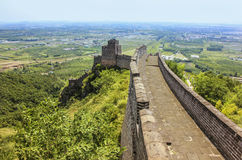 The beginning of the Great Wall of China Royalty Free Stock Image