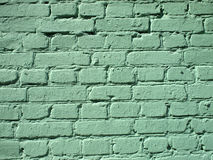 Fragment of a green brick wall Royalty Free Stock Photography
