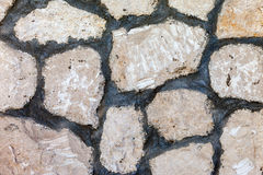 Fragment of a grey stone wall Royalty Free Stock Photography