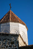 Fragment guard tower of ancient  monastery-fortress Stock Photos