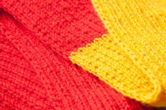 Fragment of a hand knitting Royalty Free Stock Photos