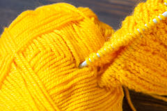 Fragment of a hand knitting Stock Photo
