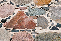 Fragment of a handmade stone wall Royalty Free Stock Photography