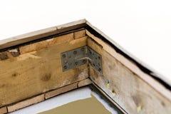 Fragment of hardwood roof. Construction Stock Photos