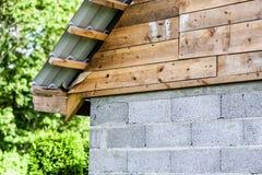 Fragment of hardwood roof. Construction Royalty Free Stock Image