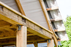 Fragment of hardwood roof. Construction Stock Photography