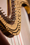 Fragment of a harp Royalty Free Stock Images