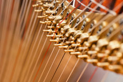 Fragment of a harp Royalty Free Stock Photography