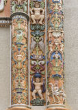Fragment of highly decorated entrance at Roosevelt Bell Tower. Stock Images
