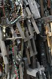 A fragment of the Hill of Crosses in northern Lithuania Royalty Free Stock Photo