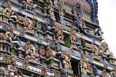 Fragment of a Hindu temple stock photo