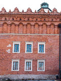 A fragment of the historic brick building on the market in Sando Stock Photo