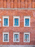 A fragment of the historic brick building on the market in Sando Stock Photography