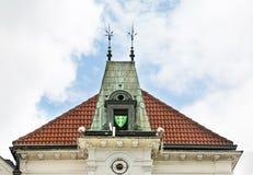 Fragment of historic house in Zilina. Slovakia Royalty Free Stock Image