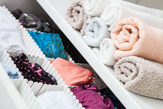 Fragment of a home wardrobe, Royalty Free Stock Photos