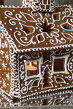 Fragment of Homemade gingerbread house Stock Photos