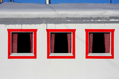 Fragment homes for fishing Royalty Free Stock Image