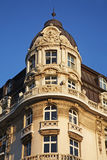 Fragment of house in Sofia. Bulgaria Royalty Free Stock Photography