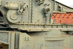 Fragment of howitzer in Museum of Artillery. Stock Photography