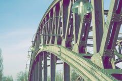 Metallic bridge structure. Fragment of huge metallic bridge structure in Berlin Stock Photography