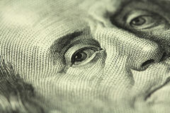 A fragment of a hundred dollar bill Stock Images