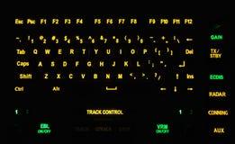 Fragment of illuminated industrial keyboard Royalty Free Stock Image