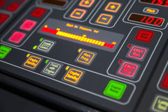 Fragment of illuminated ship control panel Stock Image