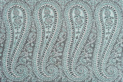 Fragment of Indian pashmina shawl pattern Royalty Free Stock Images