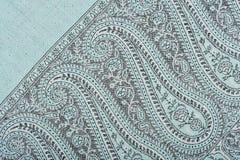 Fragment of Indian pashmina shawl Stock Images