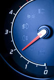 Fragment of instrument panel of car speedometer. Royalty Free Stock Image