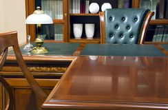 Fragment of an interior. Business furniture in classical style Stock Photo