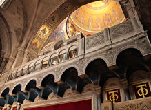 Fragment of interior of Holy Sepulchre Church Royalty Free Stock Photography