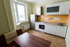 Fragment of interior kitchen economy class Stock Photos
