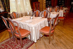 Fragment of an interior of restaurant of a guest complex. Center Stock Images