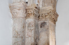 Fragment of the interior of the Room  of the Last Supper in Jerusalem, Israel. Royalty Free Stock Photography