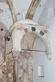 Fragment of the interior of the Room  of the Last Supper in Jerusalem, Israel. Royalty Free Stock Photo
