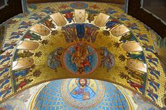 Fragment of the interior of the St. Nicholas Cathedral. In Kronstadt Stock Photography