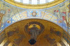 Fragment of the interior of the St. Nicholas Cathedral. In Kronstadt Stock Photo